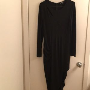 Express black asymmetrical dress